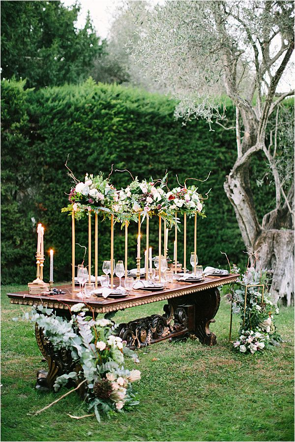Wedding at Bastide du Roy Provence table setting inspiration