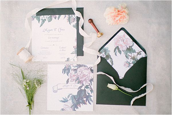 Wedding at Bastide du Roy Provence wedding invitation