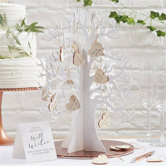 Wooden Wedding Wishing Tree Guest book