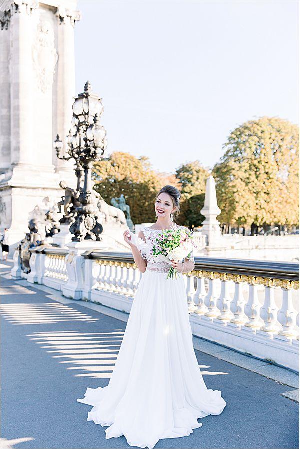 beautiful bride at Bridal Photography in Paris