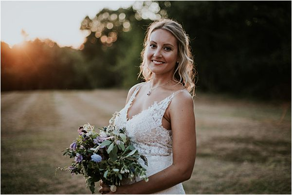beautiful bride at Chateau de la Valouze