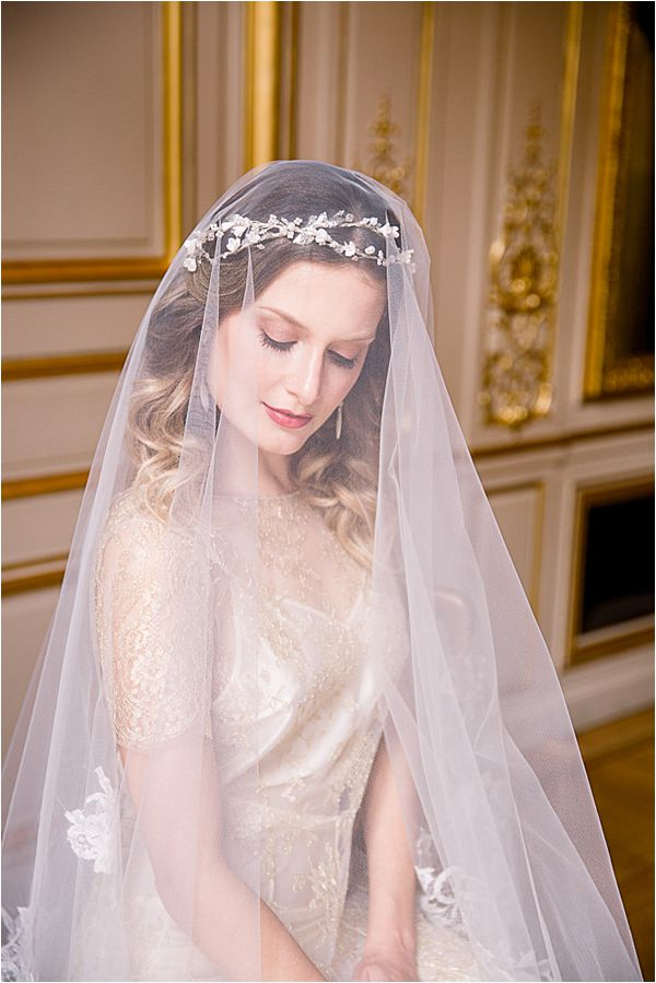 beautiful bride at Winter Wedding in Paris