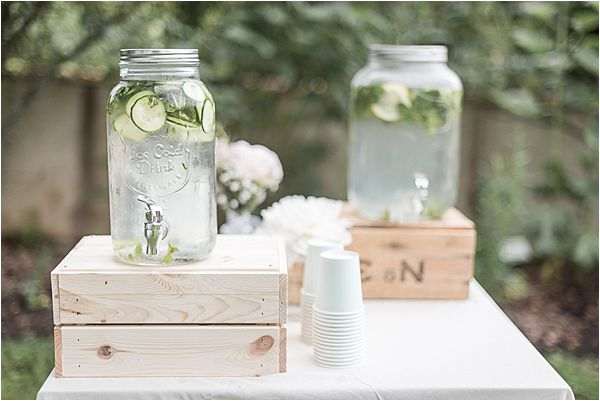 beverage corner at Destination Wedding Planning in Gascony