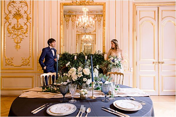 floral centerpiece at Winter Wedding in Paris