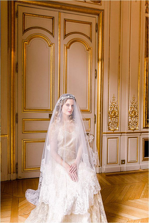 golden moldings at Winter Wedding in Paris