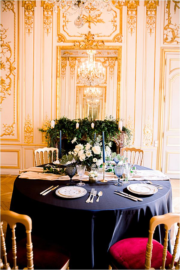 intricate gold design at Winter Wedding in Paris