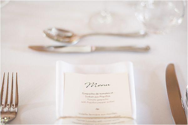 menu at Destination Wedding Planning in Gascony