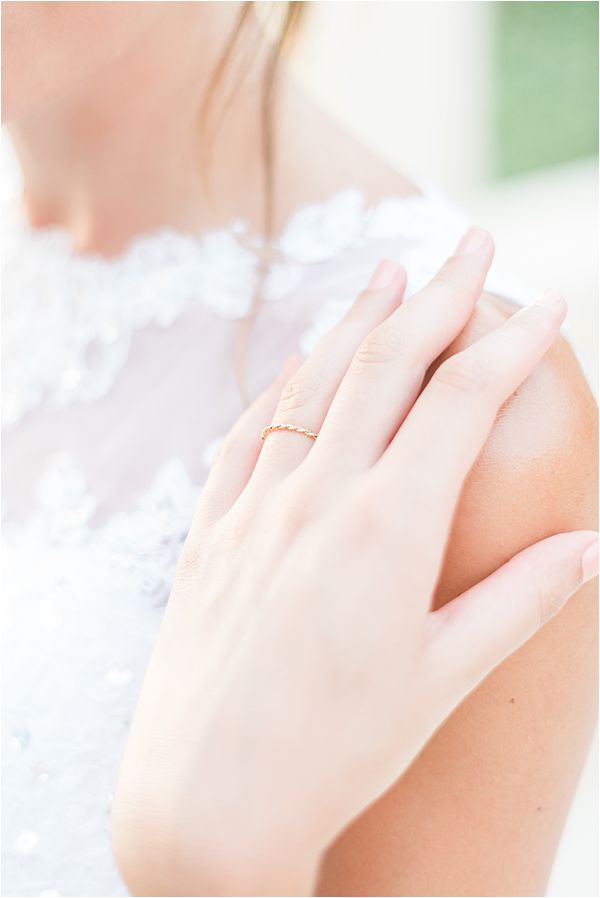 refined ring at paradise of birds wedding on French Riviera