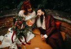relaxed wedding couple