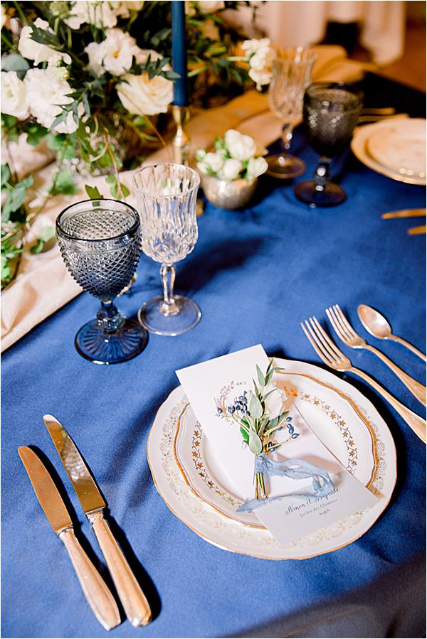 table setting at Winter Wedding in Paris