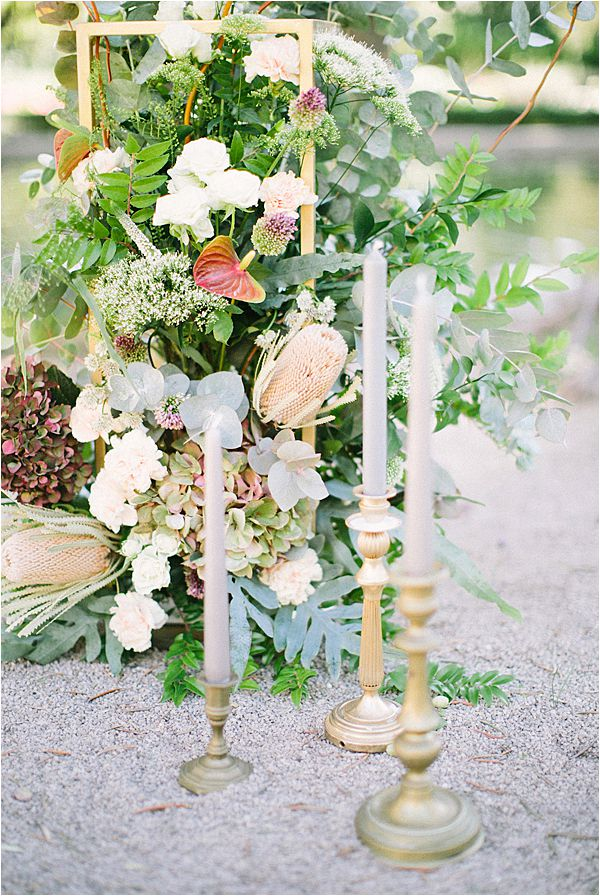 vintage candle sticks in Wedding at Bastide du Roy Provence