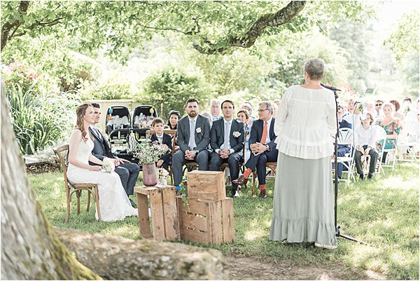 wedding ceremony at Destination Wedding Planning in Gascony
