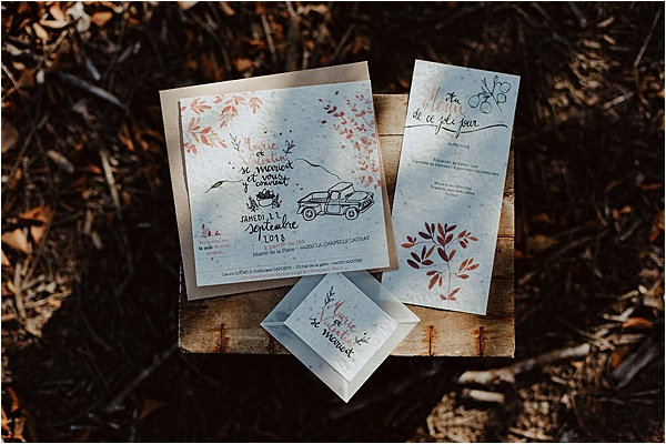 wedding in Brittany Stationery