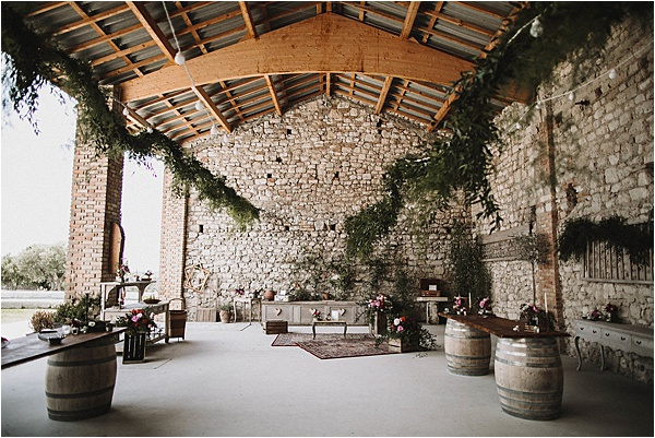 Marvelous Set-up at wedding in Vaucluse France