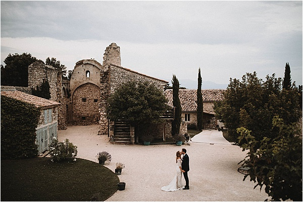 wedding in Vaucluse France Castle