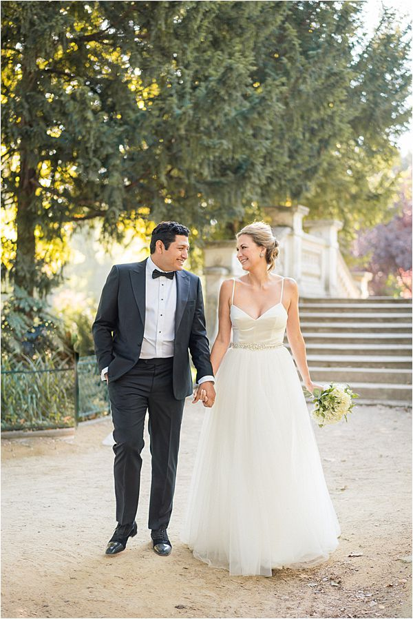 wedding on the park at Paris Elopement