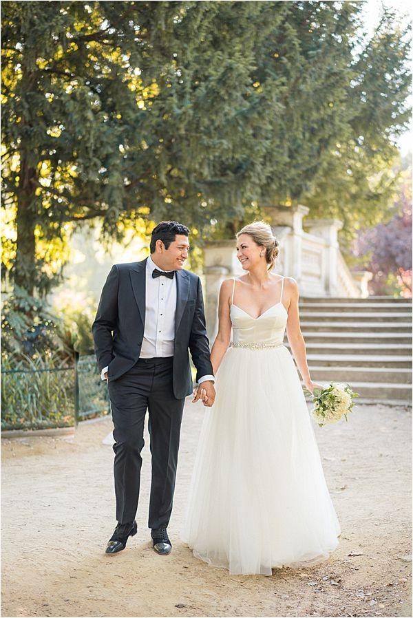 wedding on the park at Paris Elopement