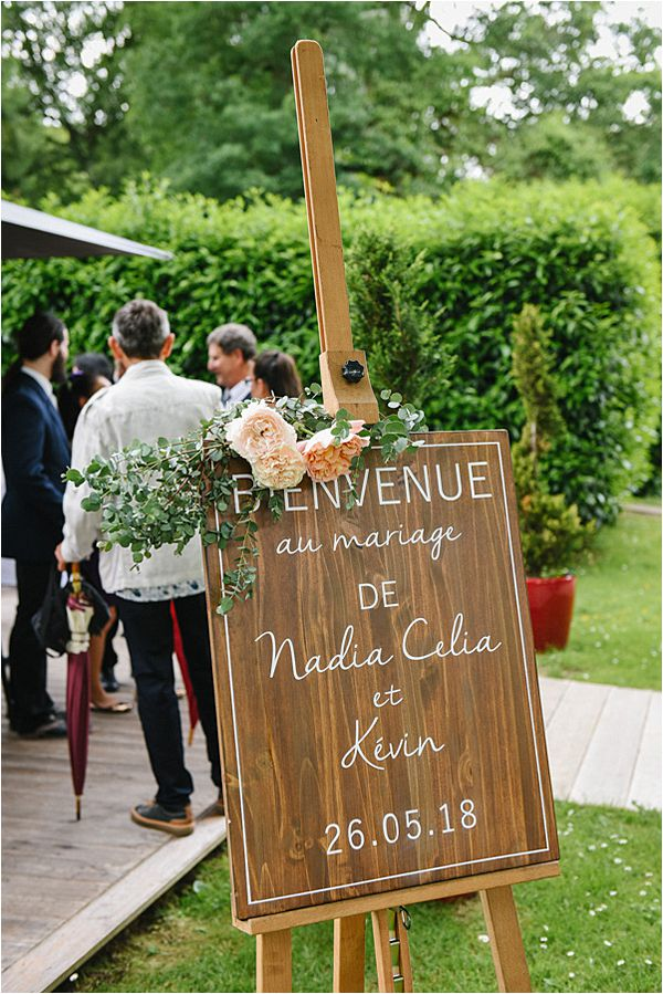 wedding signage wedding at Château de Méridon