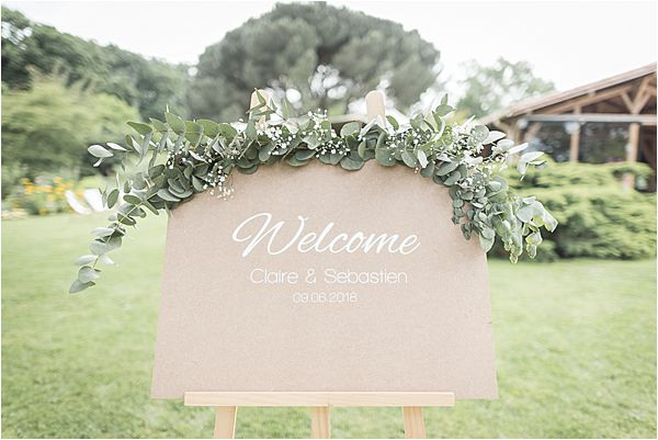 welcome sign at Destination Wedding Planning in Gascony