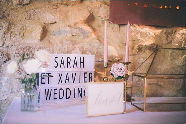 Barn reception at Elegant French Chateau Wedding