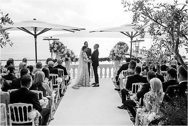 Ceremony at Cap d' Antibes wedding