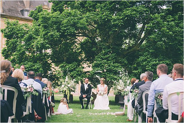 Ceremony at Elegant French Chateau Wedding