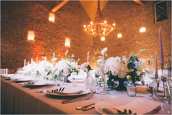 Chandelier at Elegant French Chateau Wedding