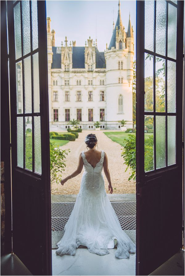Chateau Challain fairytale bride wedding by Janis Ratnieks Photography