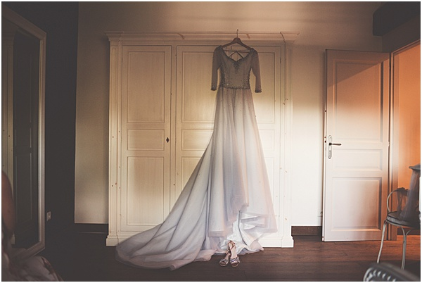 Chateau Wedding in Provence Brides Dress