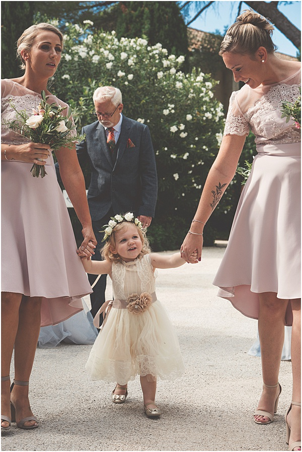 Chateau Wedding in Provence Bridesmaids and Flower Girl