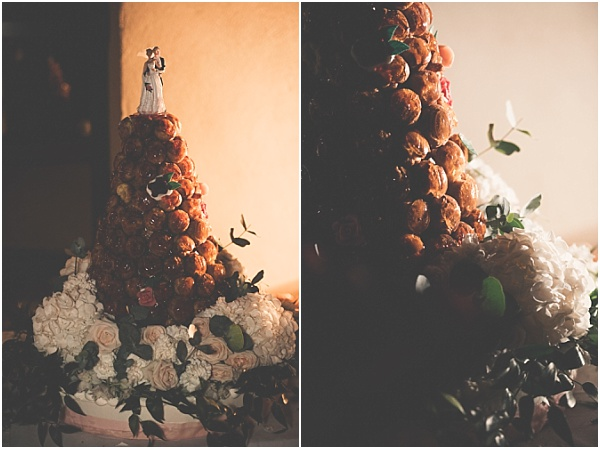 Chateau Wedding in Provence Croquembouche