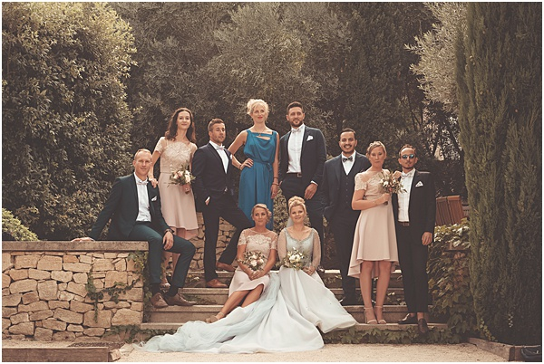 Chateau Wedding in Provence Friends and Family