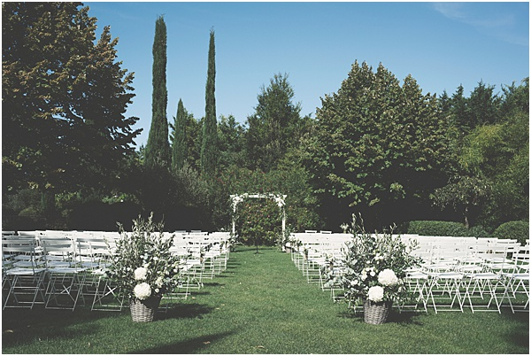 Chateau Wedding in Provence Outdoor Wedding Ceremony