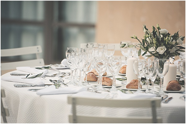 Chateau Wedding in Provence Table Setting