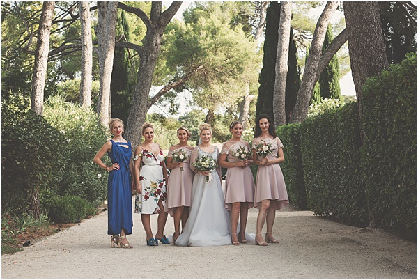 Chateau Wedding in Provence The Bride and Bridesmaids