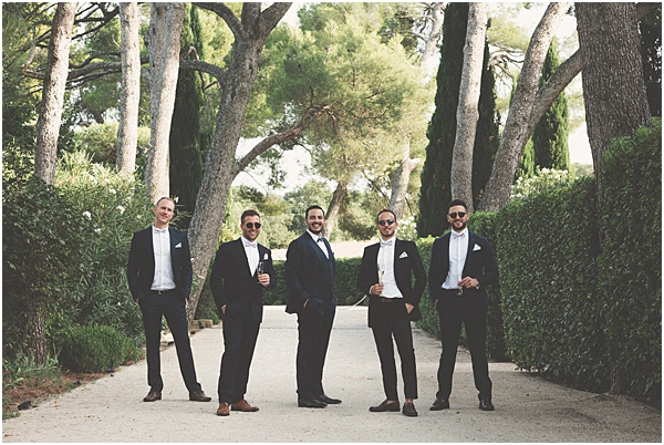 Chateau Wedding in Provence The Groom and Groomsmen