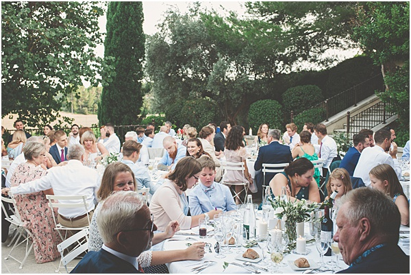 Chateau Wedding in Provence Wedding Breakfast