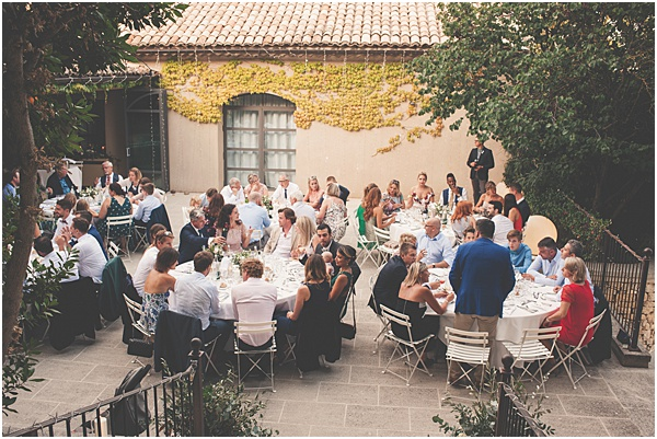 Chateau Wedding in Provence Wedding Reception