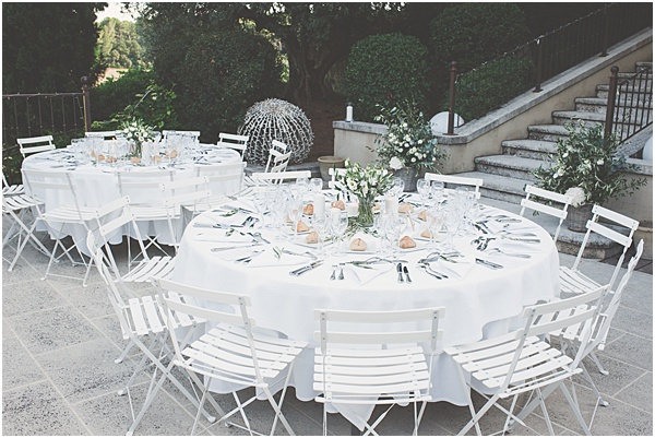 Chateau Wedding in Provence Wedding Tables