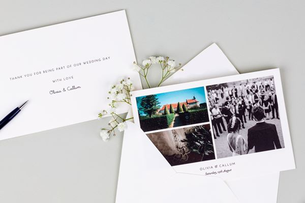Elian Concept Weddings How to Communicate with Destination Wedding Guests Wedding Thank You Cards from Atelier Rosemood
