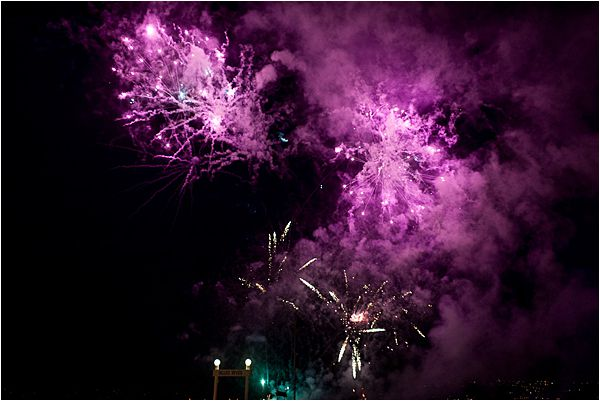 Fireworks at Cap d' Antibes wedding