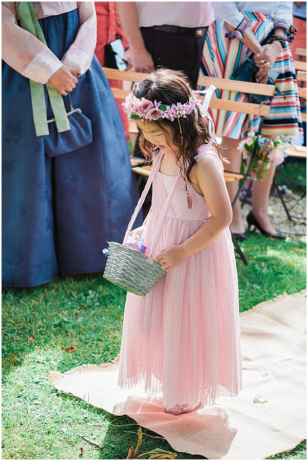Flower Girl in a French Destination Wedding