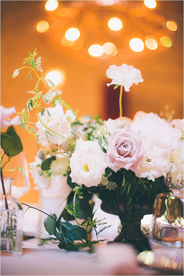 Flower compositions at Elegant French Chateau Wedding
