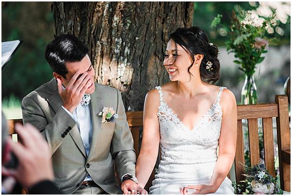 French Destination Wedding Ceremony Smiles