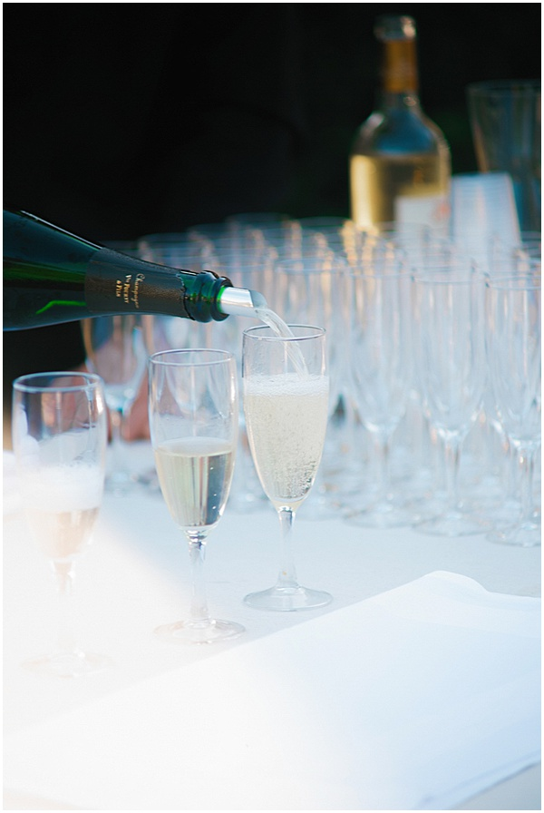French Destination Wedding Champagne Toast