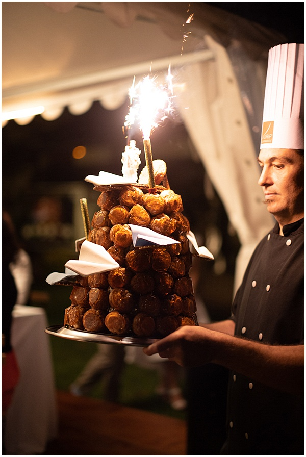 French Destination Wedding Croquembouche