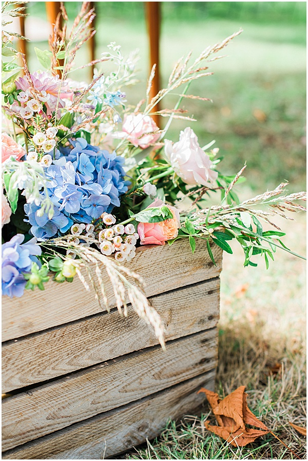 French Destination Wedding Floral Display
