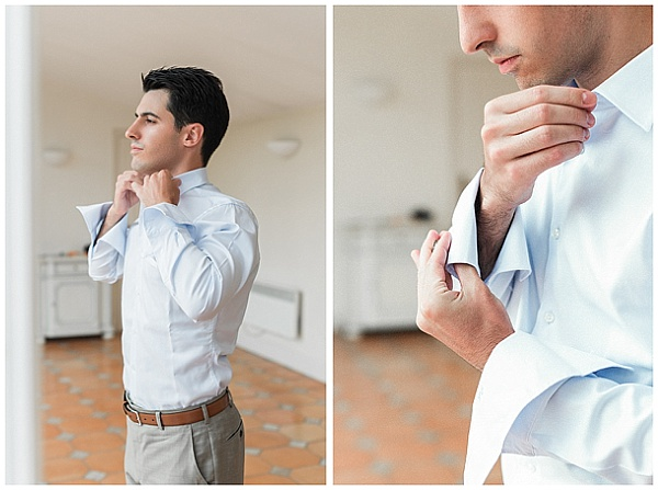 French Destination Wedding Groom Preparations