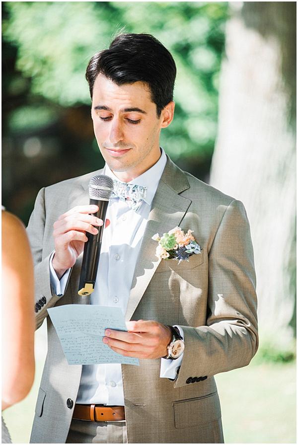 French Destination Wedding Grooms Vows