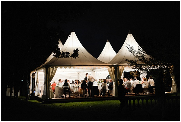 French Destination Wedding Marquee at Night